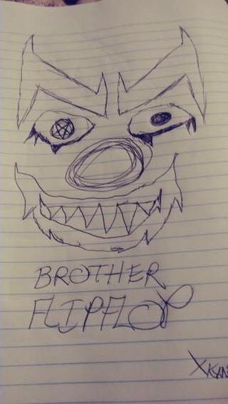 FlipFlop The Clown Fan Art by @kaneisdead