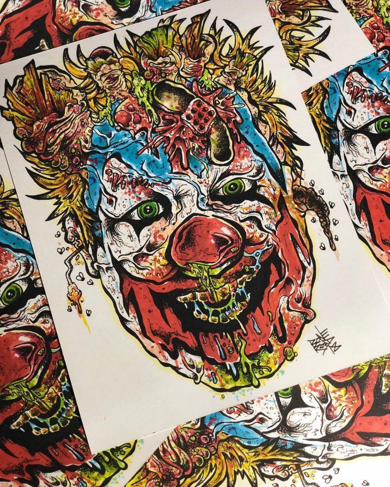 FlipFlop The Clown Fan Art by Mikey Boneroad