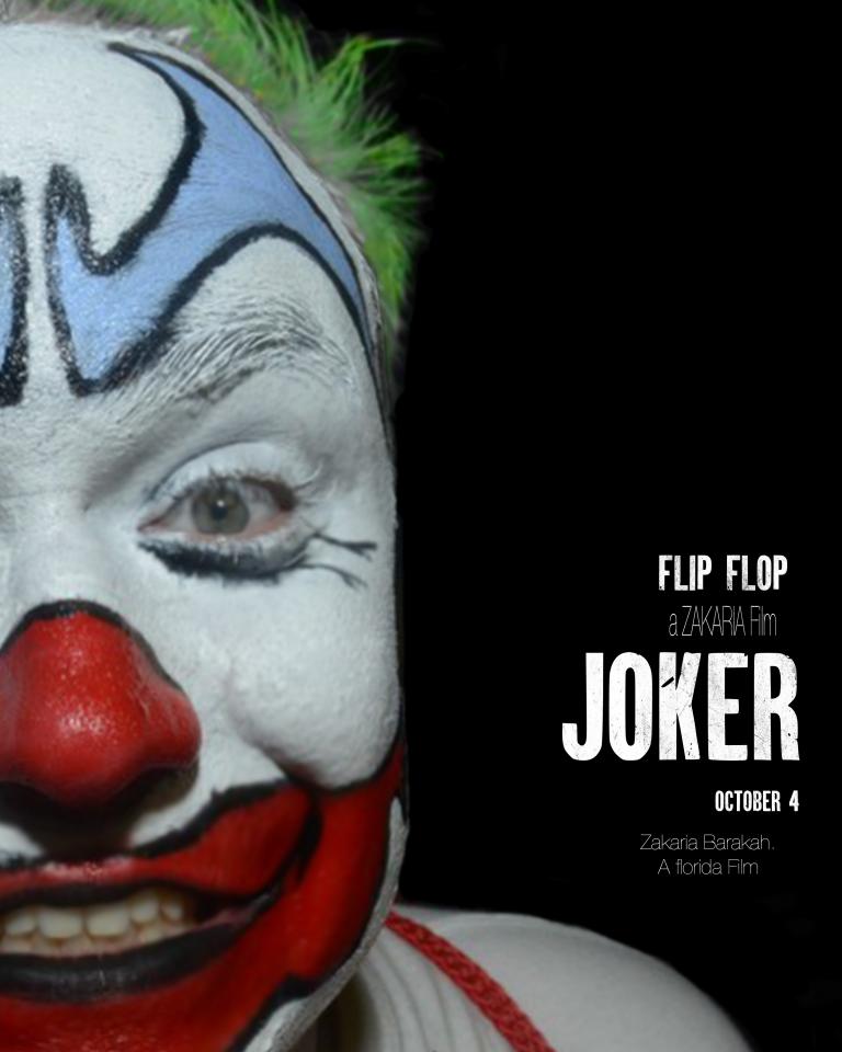 FlipFlop The Clown Fan Art by Zakaria Barakah - Joker Movie Poster Parody