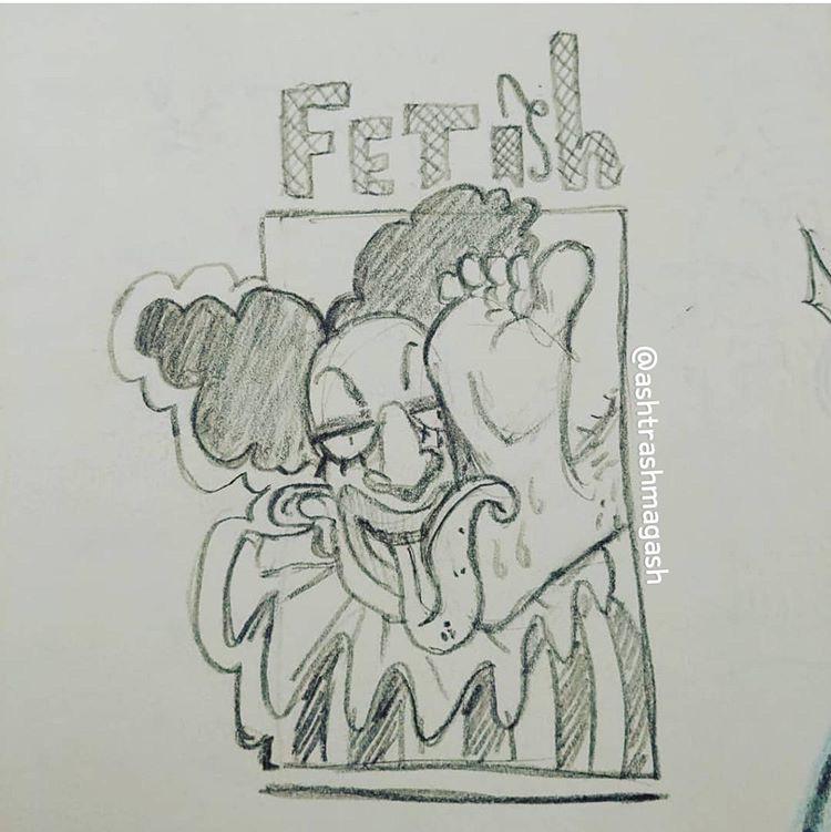 FlipFlop The Clown Fan Inspired Art by Ash Walsh