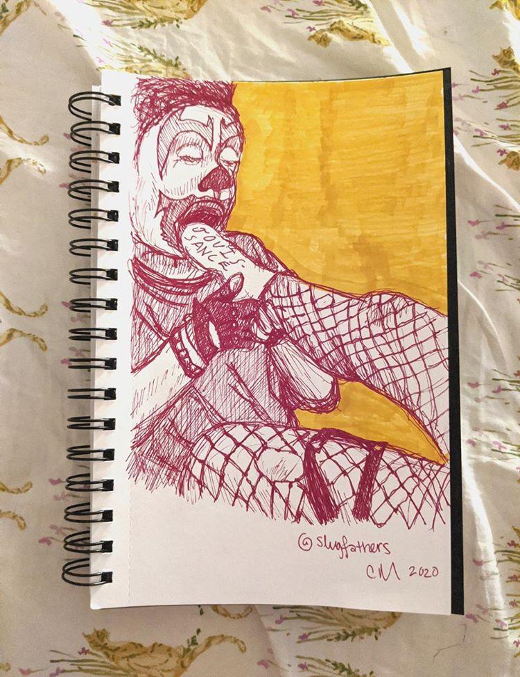 FlipFlop The Clown Fan Art by @Slugfathers
